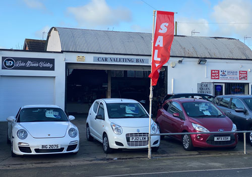 Line of cars for sale in Wrexham